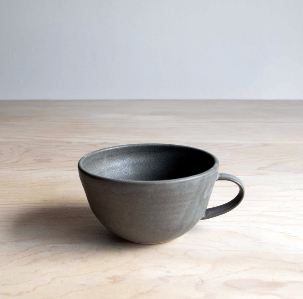 Farmhouse Pottery Handmade Lottery Cup in Grey