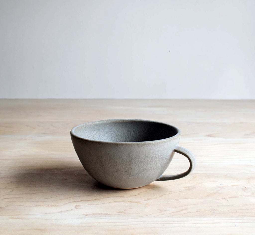 Slate Farmhouse Handmade Pottery Latte Cup