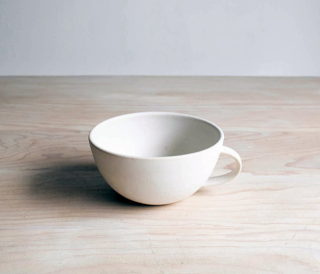 Classic White Handmade Pottery Latte Cup