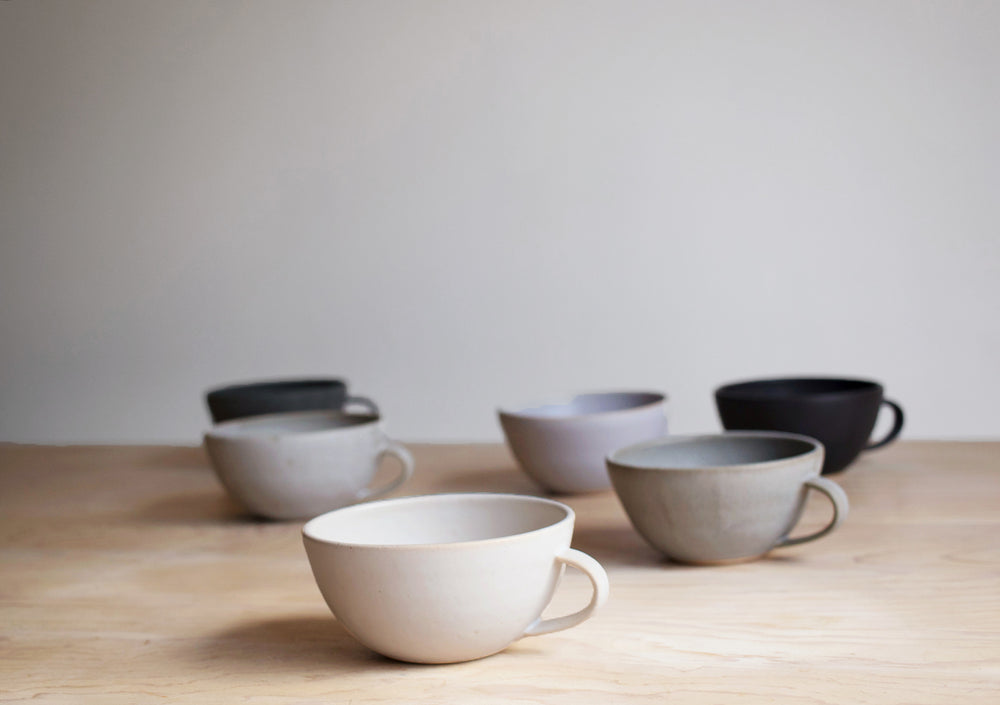 Farmhouse Latte Mugs in Various Colors