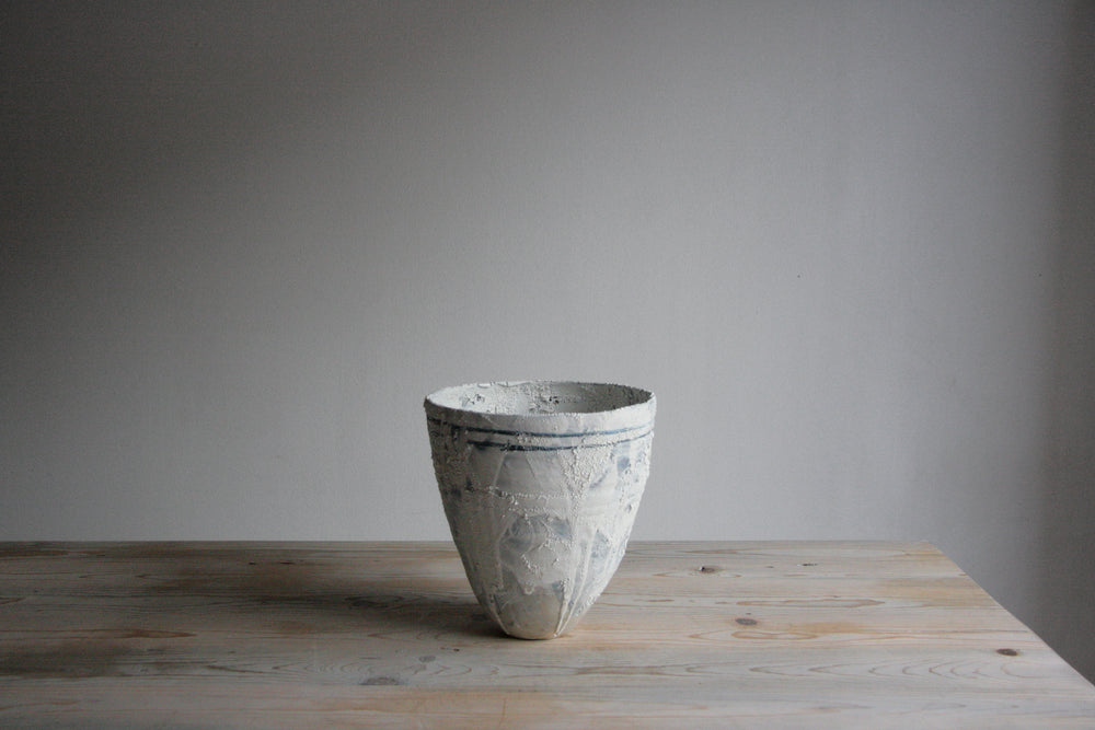 Vase - Cobalt and White