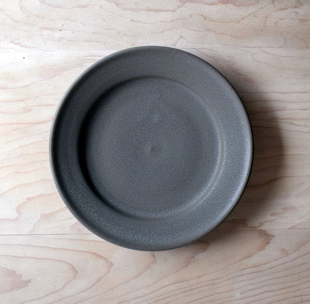 Farmhouse Ceramic Grey Plate