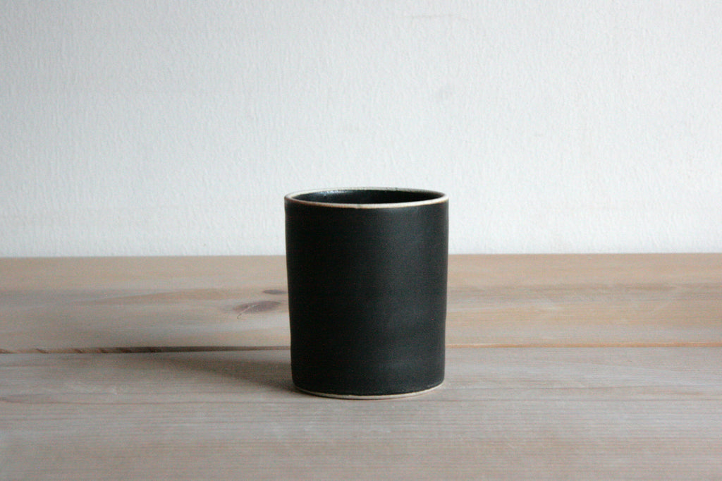 Satin Black Handmade Ceramic Mug or Tumbler