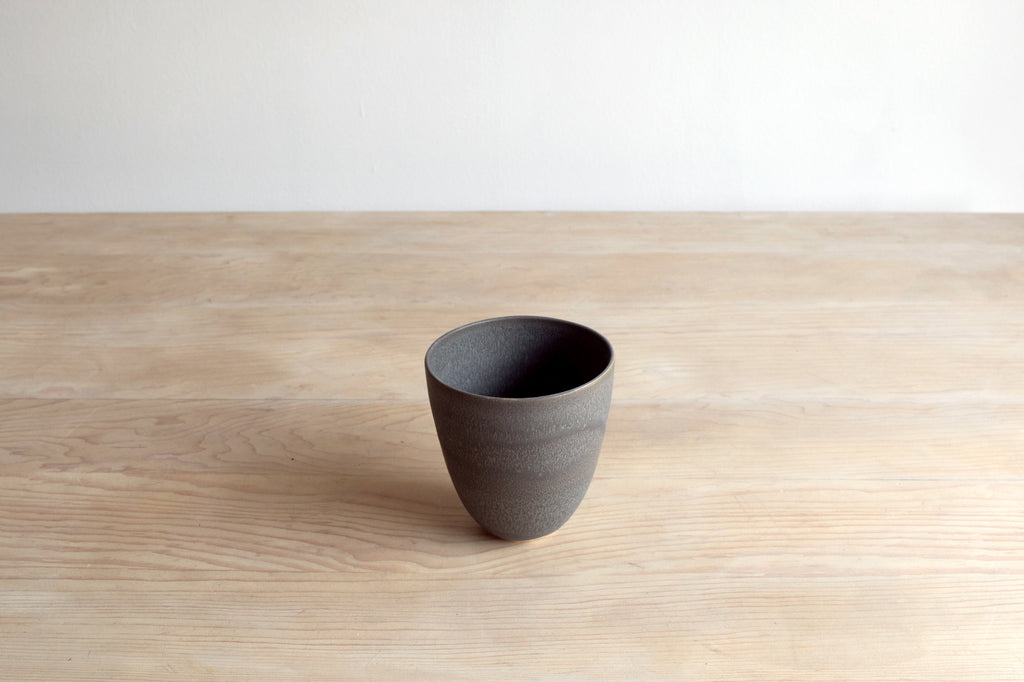 Charcoal Statement Bowl Handmade Ceramics on Table