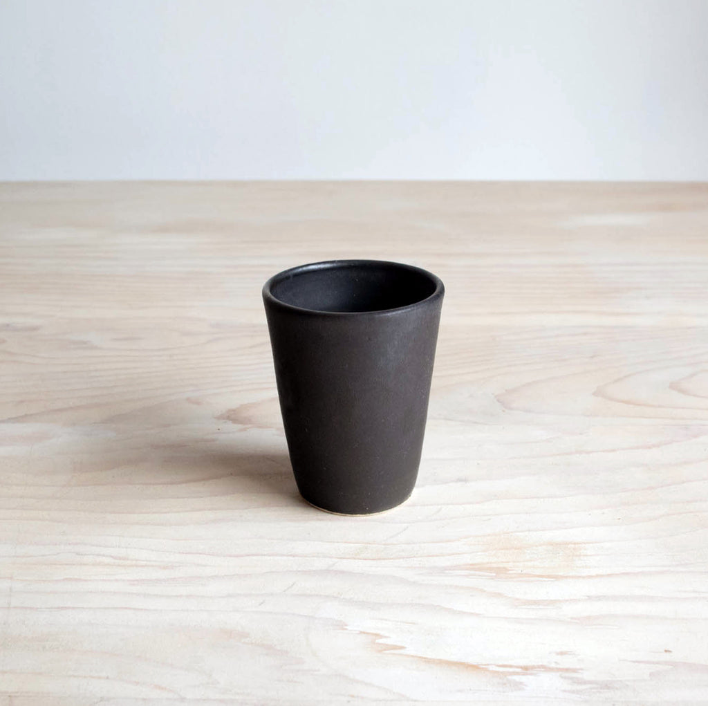 Satin Black Farmhouse Pottery Tumbler