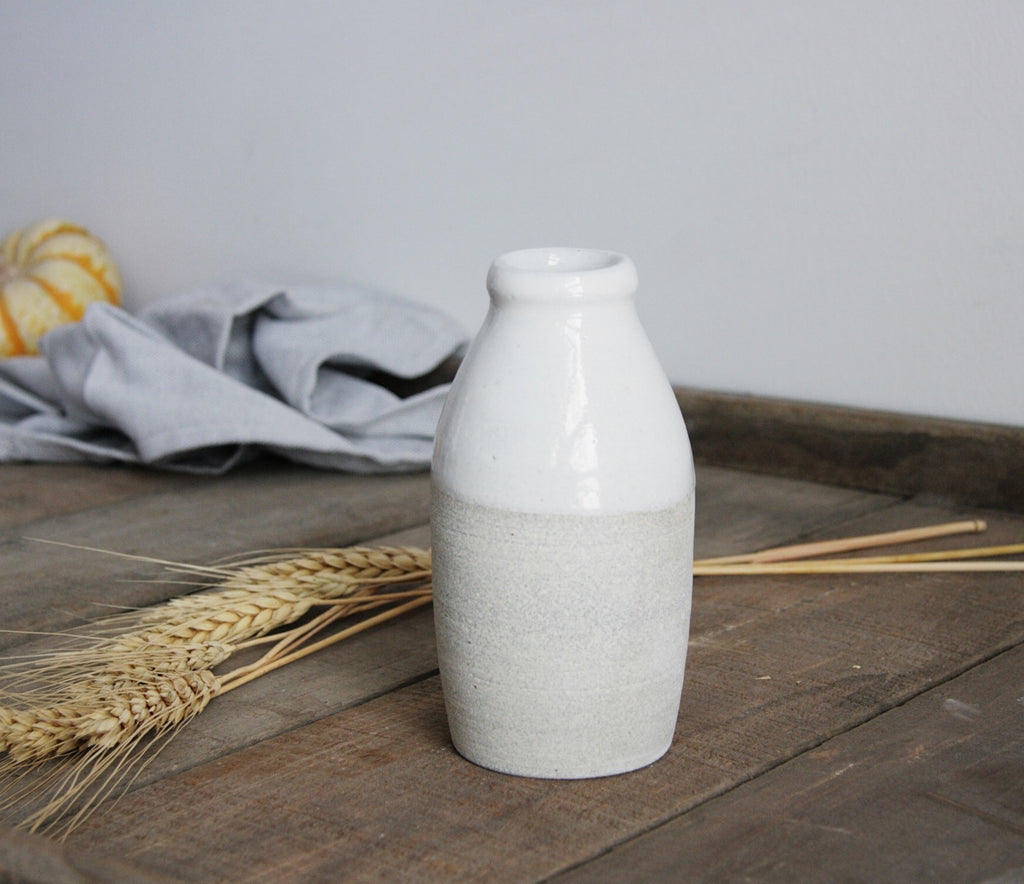 Vermont Milk Bottle Handmade Stoneware