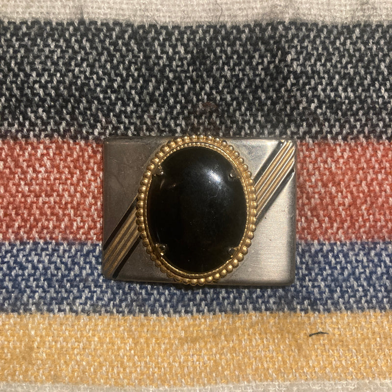 Mounted Black Stone Buckle