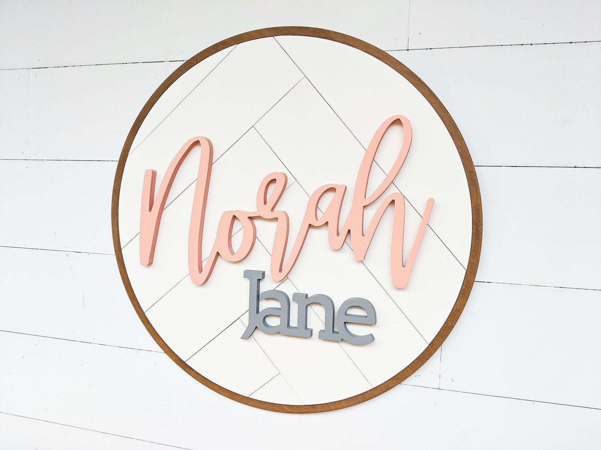 Name Sign - Norah Jane Style