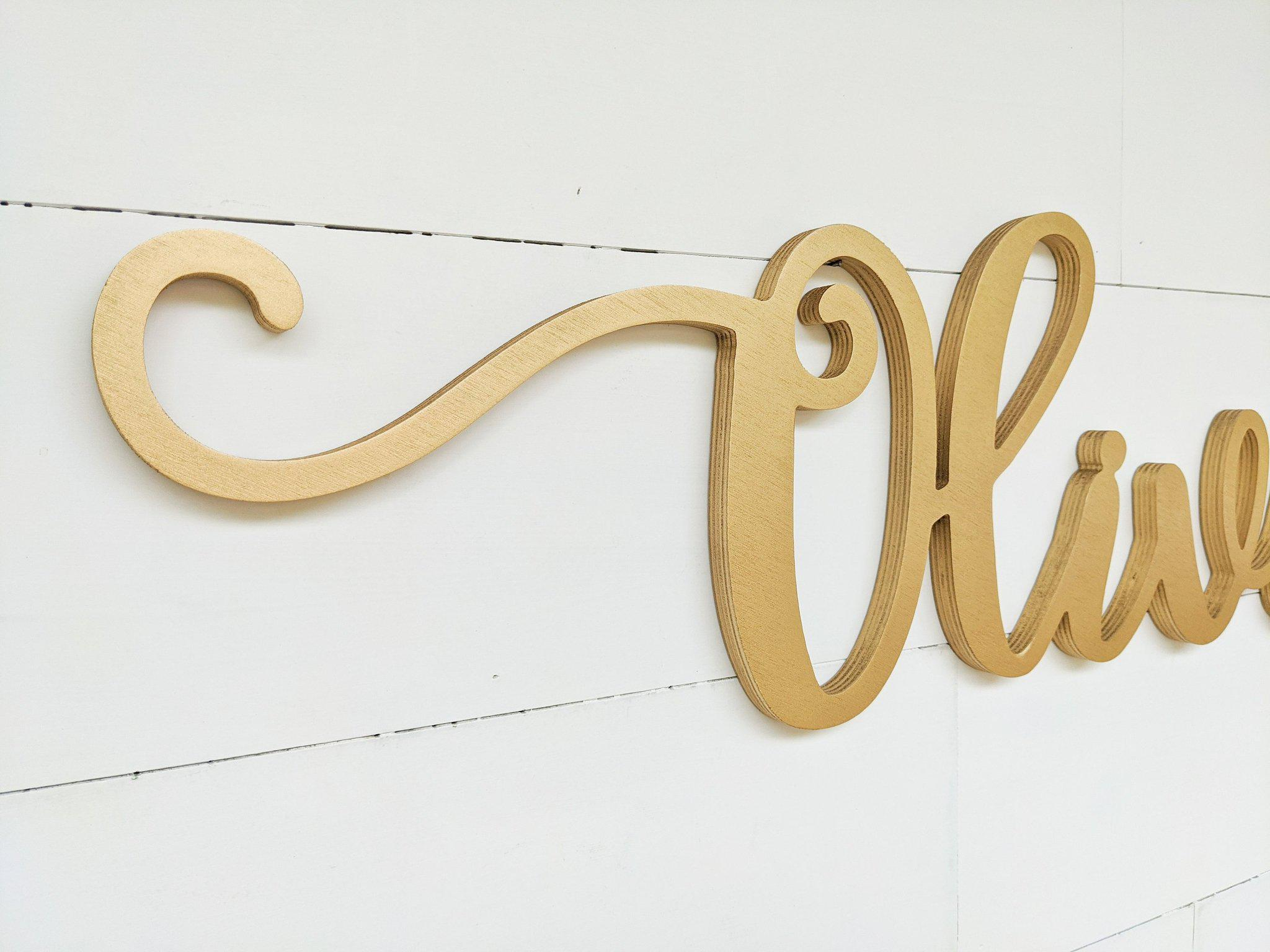 Name Sign - Olivia Style
