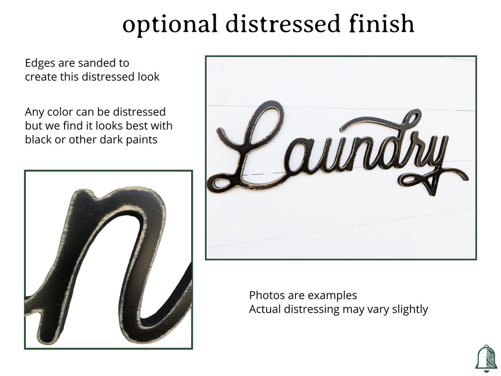 Description of the option to add a distressed finish to your product