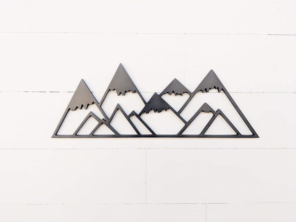 Snowy Geometric Mountains