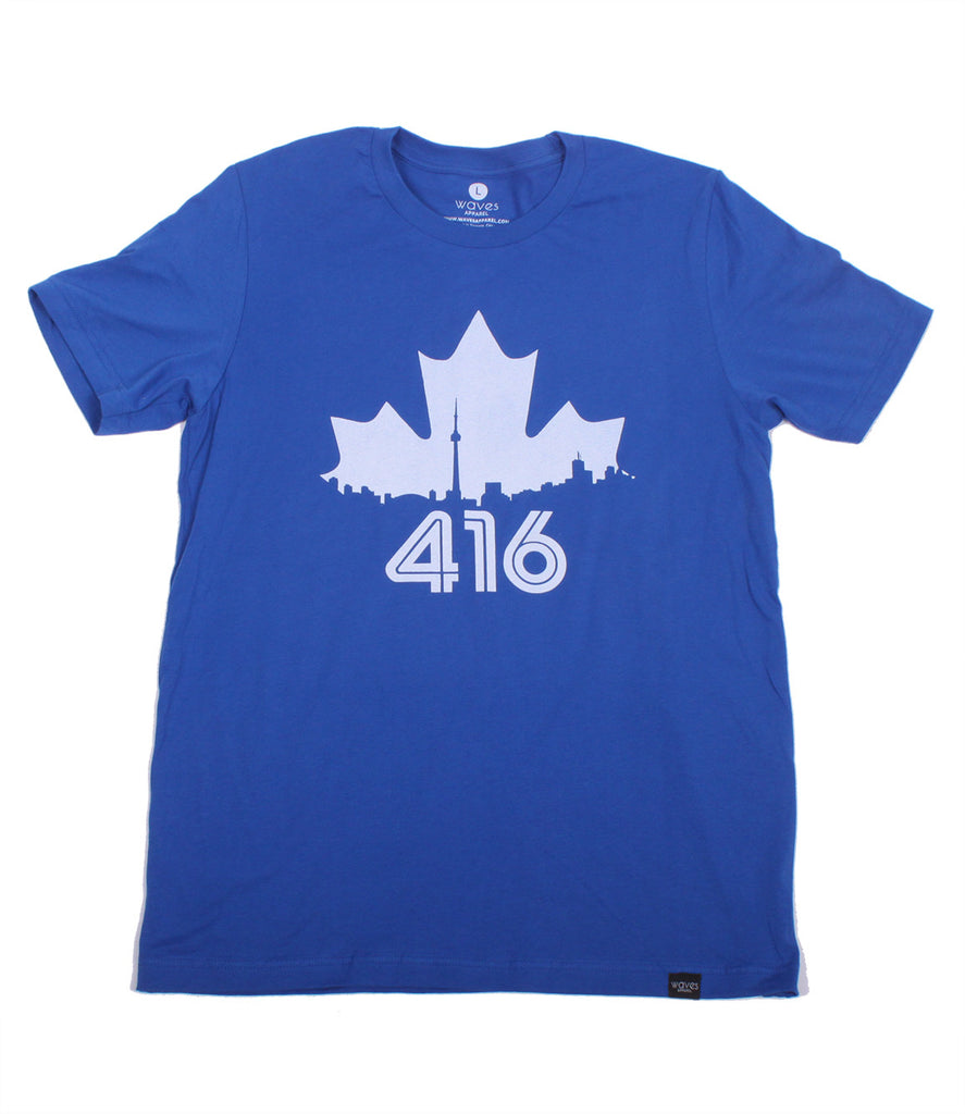 Toronto 416 Maple Leaf Royal Blue Tee Unisex
