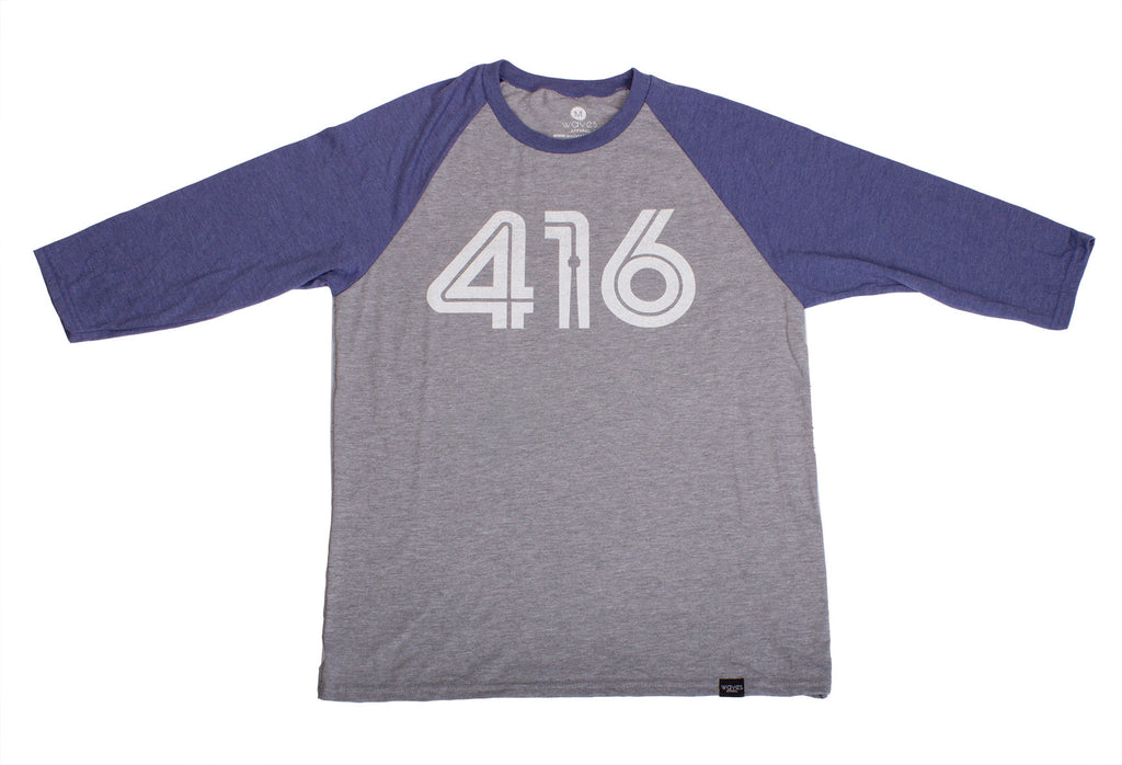 416 Tri-Blend 3/4 Sleeve Baseball Raglan - Guy's Fit