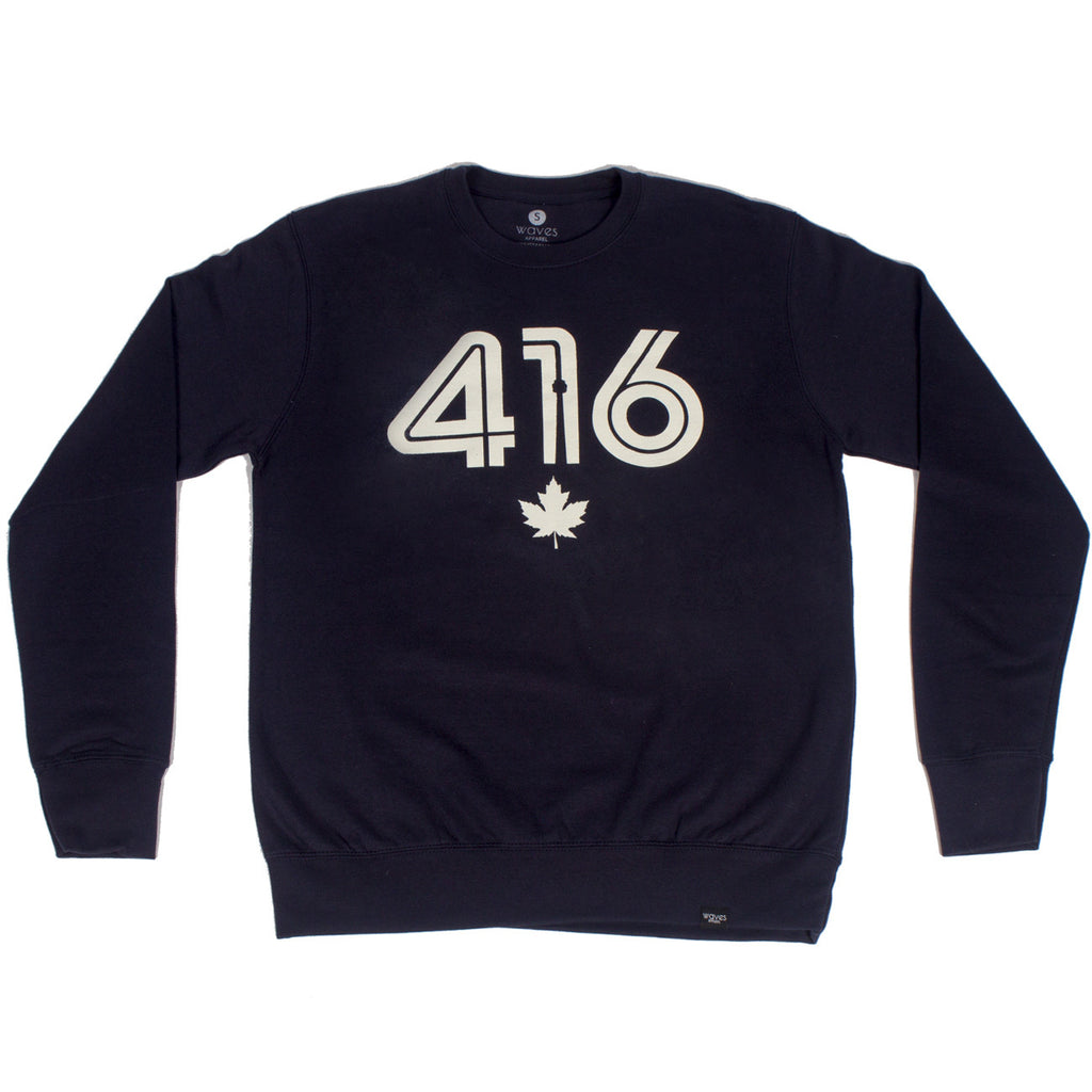 416 Retro Navy Crewneck Sweater