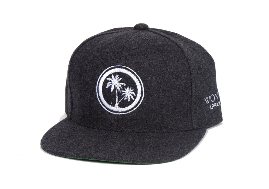 Classic Waves - Dark Grey Melton Wool Snapback