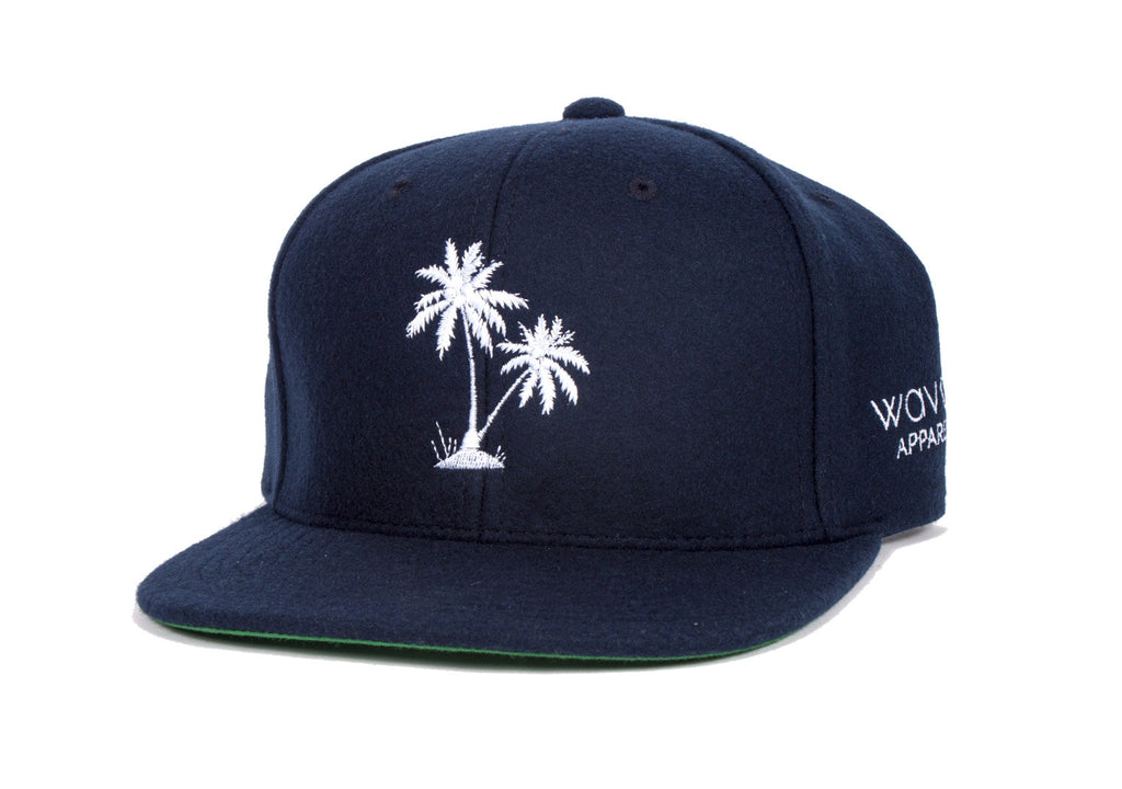 Palm Dreams - Navy Melton Wool Snapback