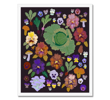 Load image into Gallery viewer, Pansies Framed Print