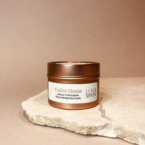 Coffee House | Rose Gold Travel Candle
