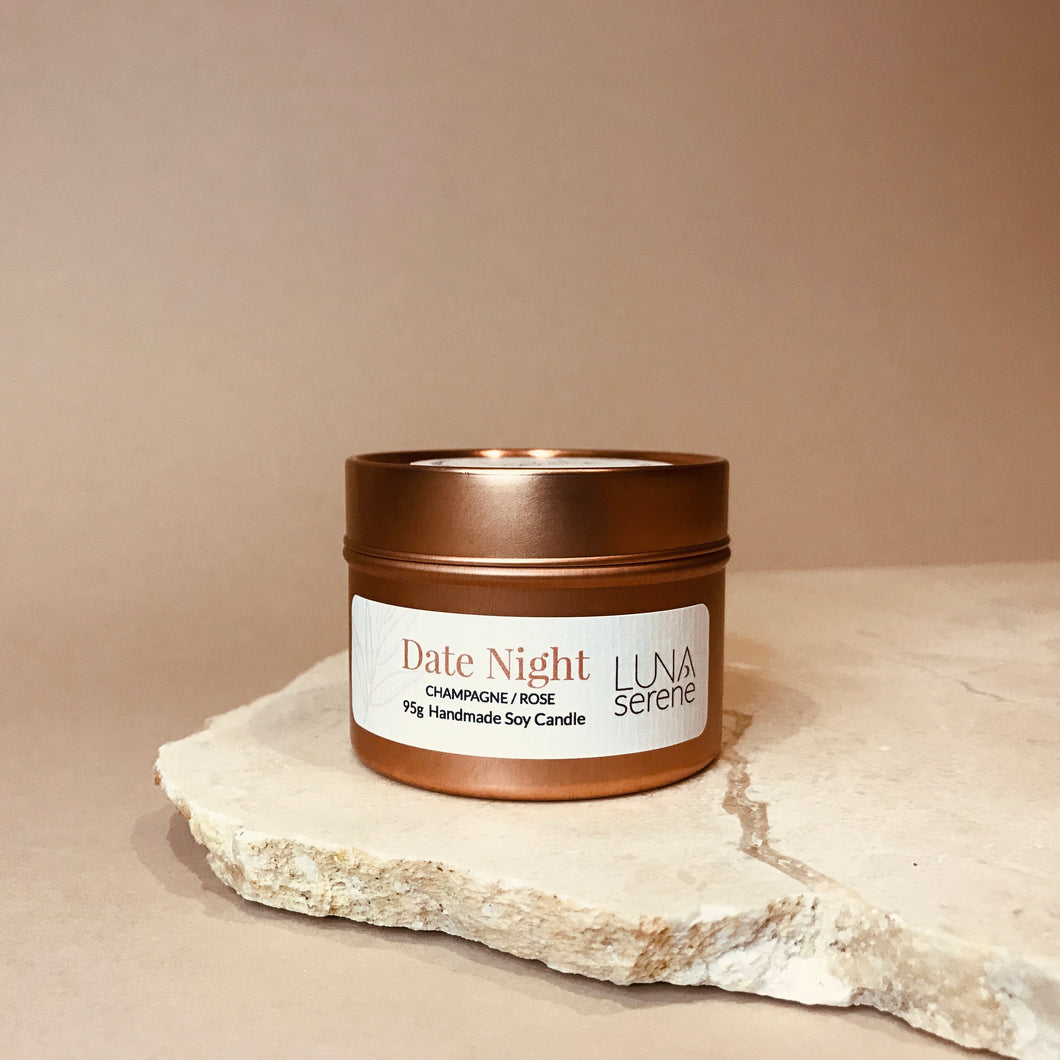 Date Night | Rose Gold Travel Candle