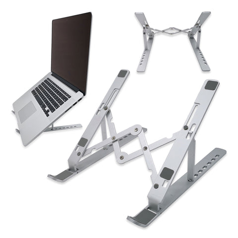 "Laptop Stand, Laptop holder, Foldable Portable Aluminum Alloy Compatible with MacBook, HP, Dell and More 6""-17"" Laptops"