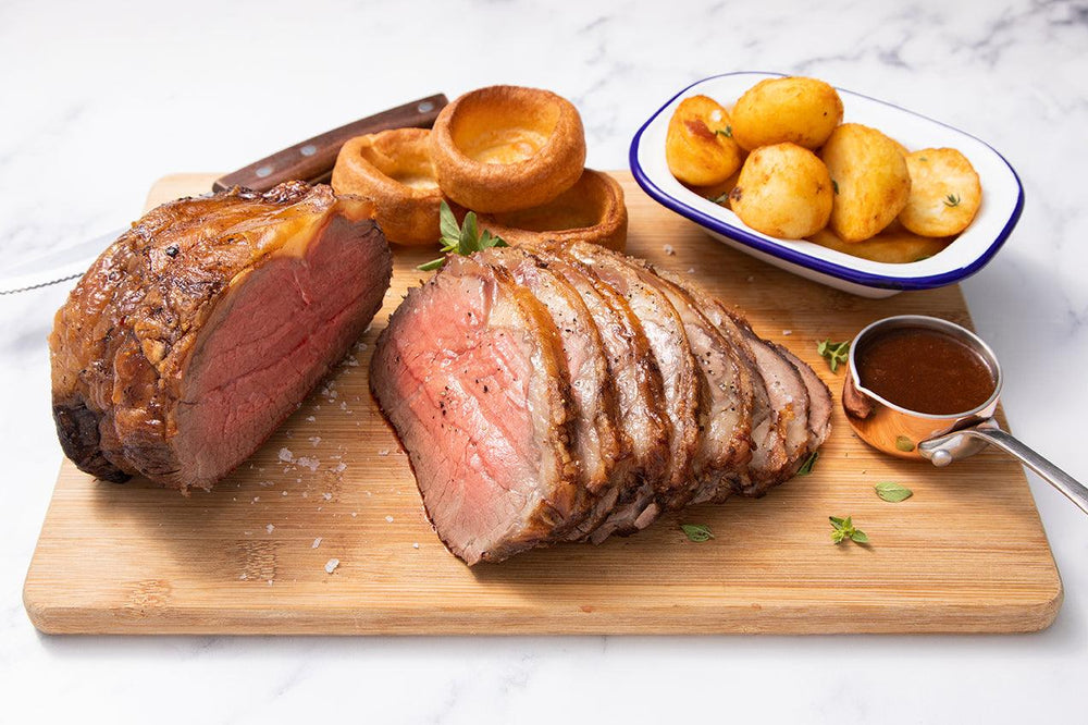 Scotch Beef Sirloin Joint cooked