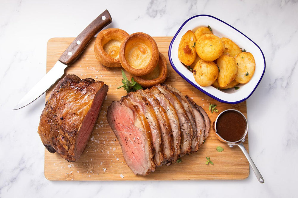 Scotch Beef Sirloin Joint with a rich red wine Jus