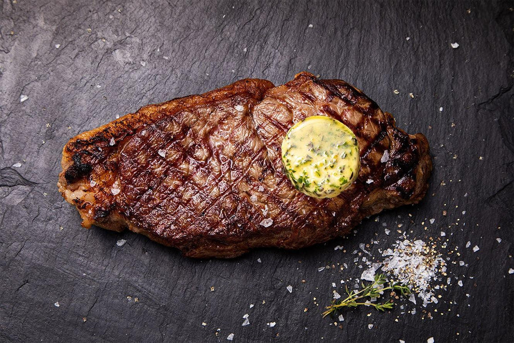 Sirloin with Herb and Garlic Butter