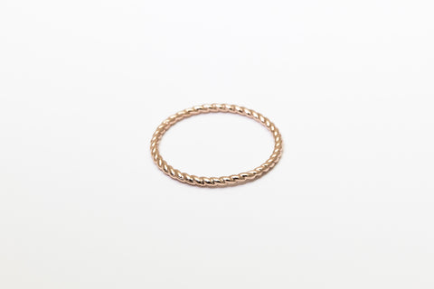 Braided Besito Ring Rose Gold