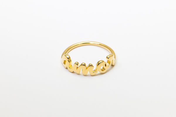 Amor Ring Yellow Gold