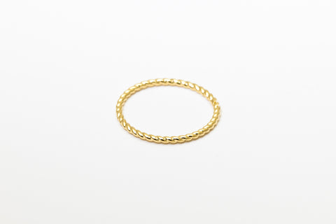 Braided Besito Ring Yellow Gold