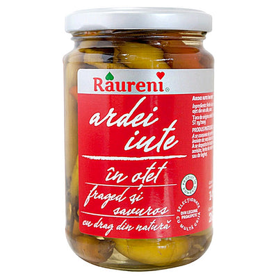 Raureni Hot Pepper In Vinegar ( Ardei Iute ) - 12 oz