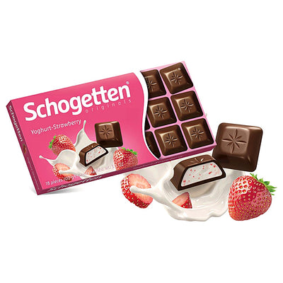 Schogetten Joghurt Strawbery Cream Chocolate - 100 g