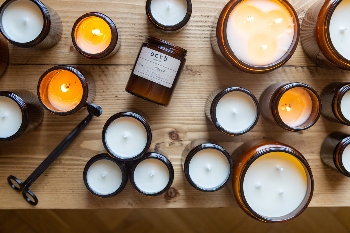 Octō candles are made with a difference. By swapping out all synthetic ingredients and perfume oils for pure plant-based ingredients that bring us back to what Mother Nature does best, our hand poured soy candles will light up your everyday moments, slow