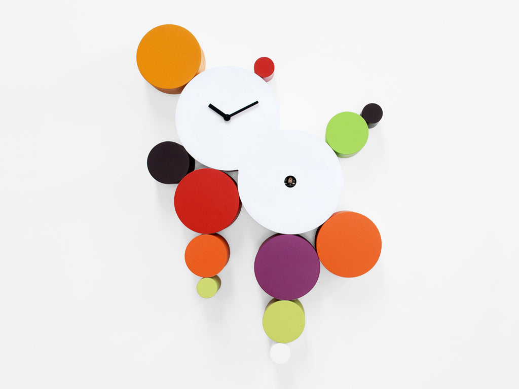 Progetti, CucuBall Clock WARM COLORS, model 2315, Manuel Barbieri
