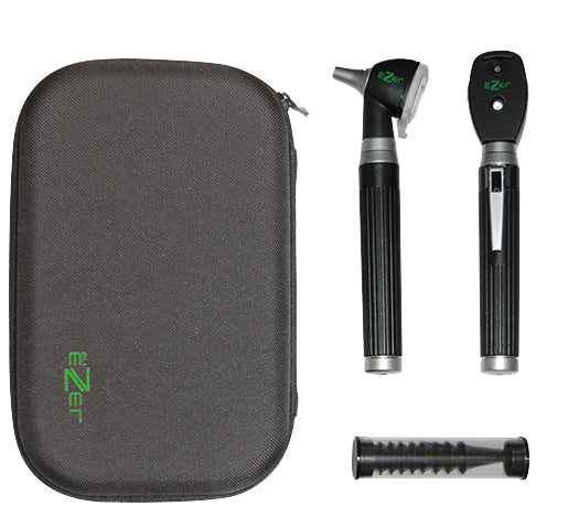 Ophthalmoscope and Otoscope Diagnostic Set 2 Pcs AA handle and Zipper Bag EZ-OTO-1800 Ezer - US Ophthalmic