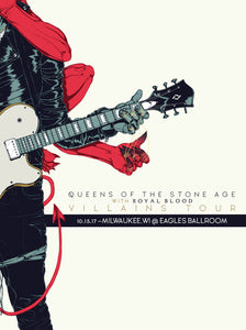 QUEENS OF THE STONE AGE 10/15/2017 Concert Canvas