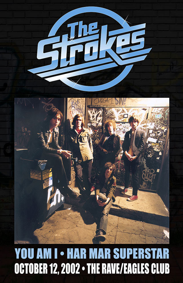 THE STROKES 10/12/2002 Concert Poster