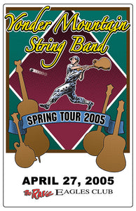 YONDER MOUNTAIN STRING BAND 4/27/2005 Concert Poster