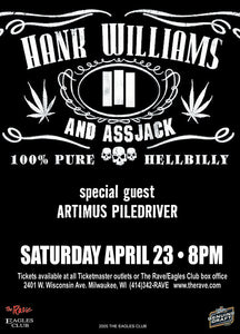 HANK WILLIAMS III 4/23/2005 Concert Poster