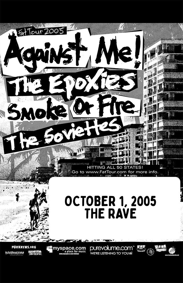 AGAINST ME! 10/1/2005 Concert Poster