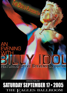 BILLY IDOL 9/17/2005 Concert Poster