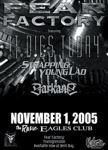 FEAR FACTORY 11/1/2005 Concert Poster