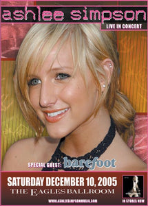 ASHLEE SIMPSON 12/10/2005 Concert Poster