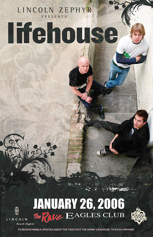 LIFEHOUSE 1/26/2006 Concert Poster