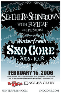 SEETHER / SHINEDOWN 2/15/2006 Concert Poster