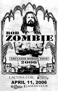 ROB ZOMBIE 4/11/2006 Concert Poster