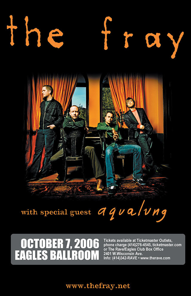 THE FRAY 10/7/2006 Concert Poster