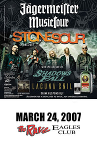 STONE SOUR 3/24/2007 Concert Poster