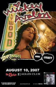 MICKEY AVALON 8/10/2007 Concert Poster