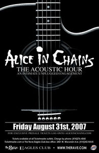 ALICE IN CHAINS - THE ACOUSTIC HOUR 8/31/2007 Concert Poster